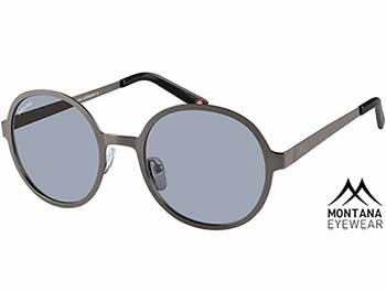 Pulsar (Gunmetal) Retro Sunglasses - Thumbnail Product Image