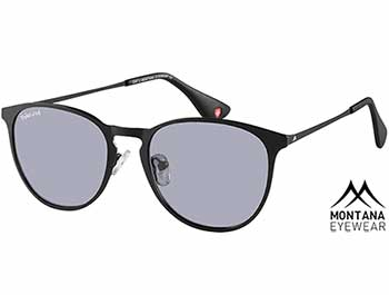 St Lucia (Black) Retro Sunglasses - Thumbnail Product Image