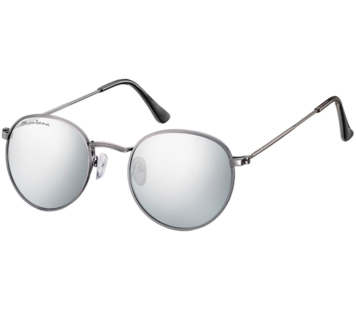 Main Image (Angle) - Eclipse (Gunmetal) Retro Sunglasses
