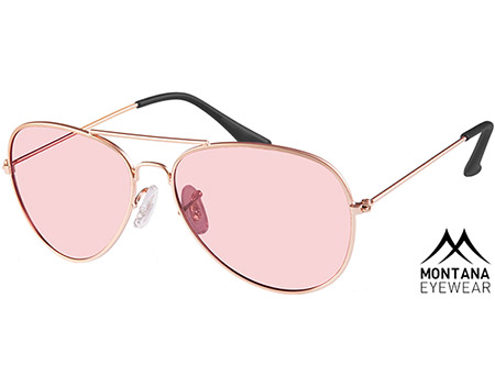 Bliss (Gold) Aviator Sunglasses - Thumbnail Product Image
