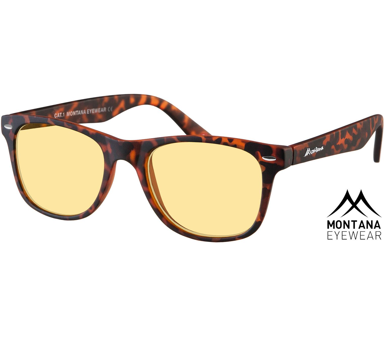 Main Image (Angle) - Grid (Tortoiseshell) Night Driving Glasses Sunglasses