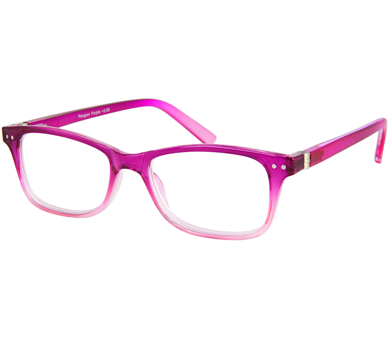 Main Image (Angle) - Penguin (Purple) Fashion Reading Glasses