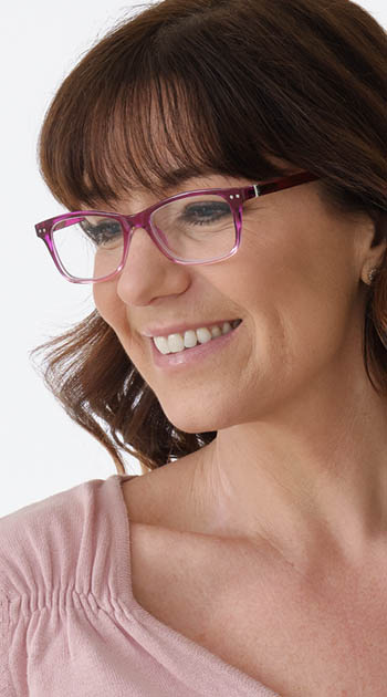 Penguin (Purple) Fashion Reading Glasses - Thumbnail Model Image