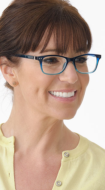 Penguin (Blue) Classic Reading Glasses - Thumbnail Model Image