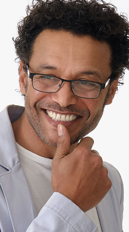 Kendrick (Black) Classic Reading Glasses - Thumbnail Model Image