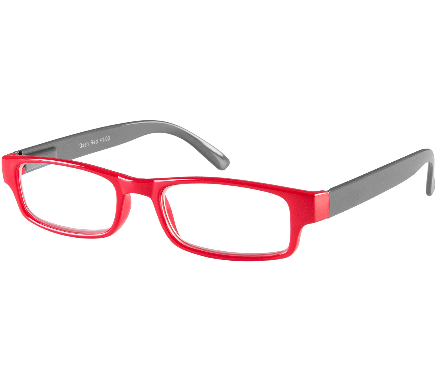 Main Image (Angle) - Dash (Red) Classic Reading Glasses