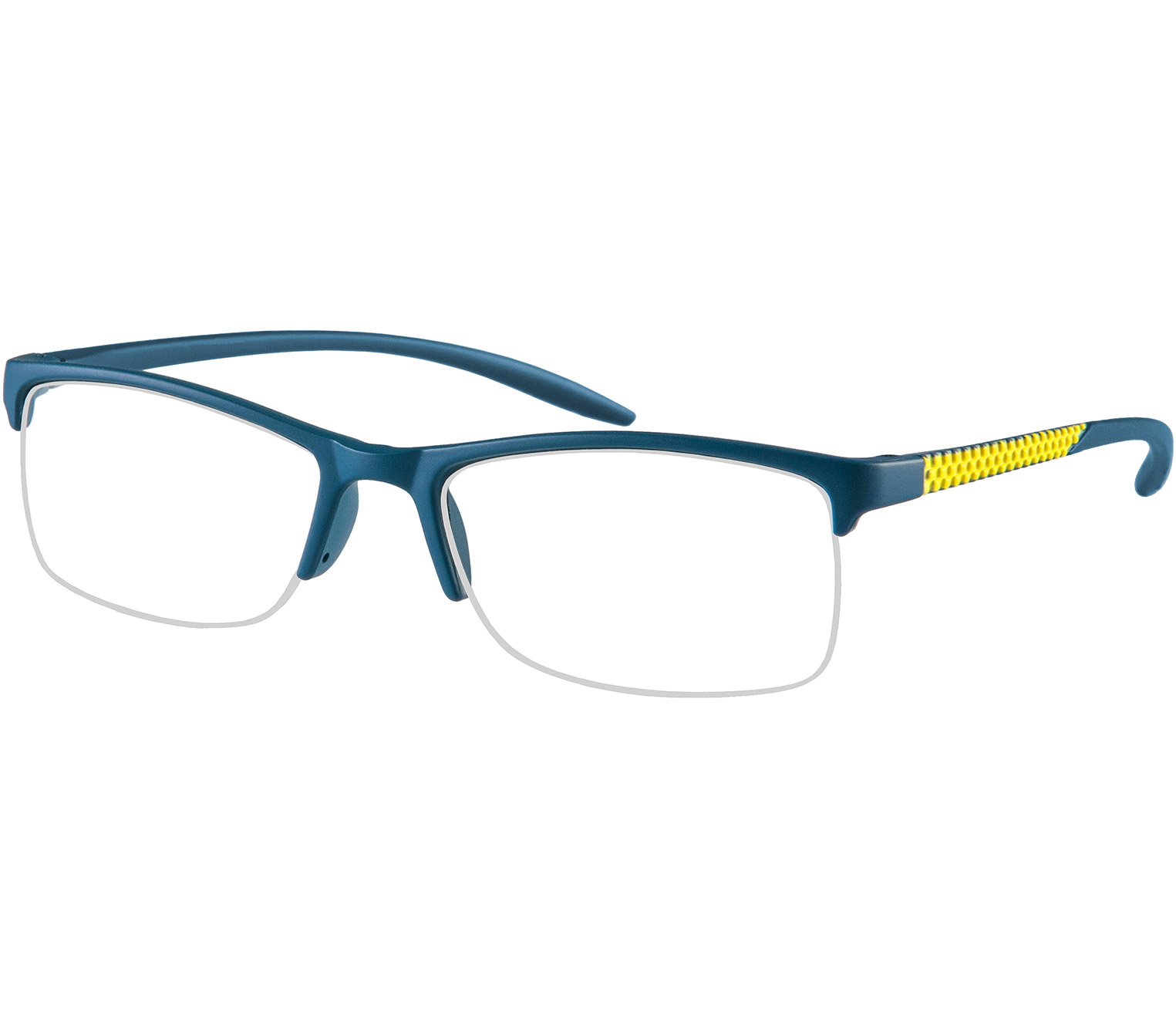 Main Image (Angle) - Solent (Blue) Semi-rimless Reading Glasses