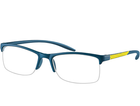 Solent (Blue) Semi-rimless Reading Glasses - Thumbnail Product Image