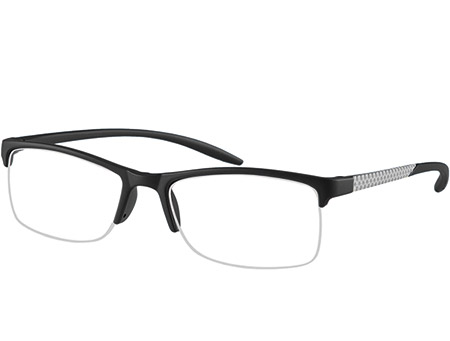 Solent (Black) Semi-rimless Reading Glasses - Thumbnail Product Image