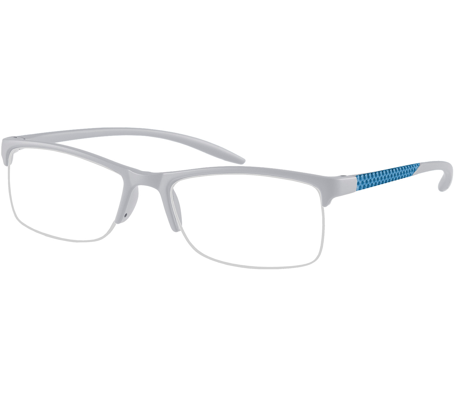 Main Image (Angle) - Solent (Grey) Semi-rimless Reading Glasses