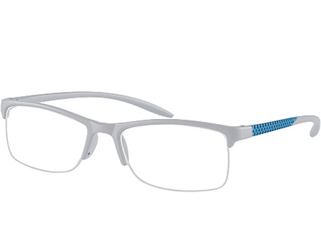 Solent (Grey) Semi-rimless Reading Glasses - Thumbnail Product Image
