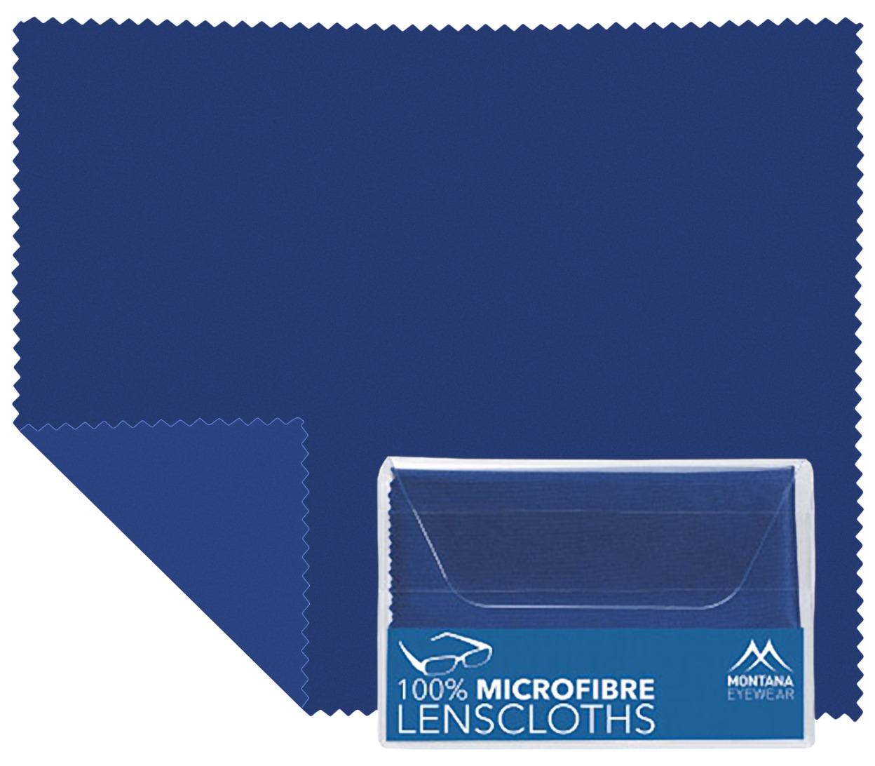 Main Image (Angle) - Microfibre Cloth (Blue) Glasses Cloths Accessories