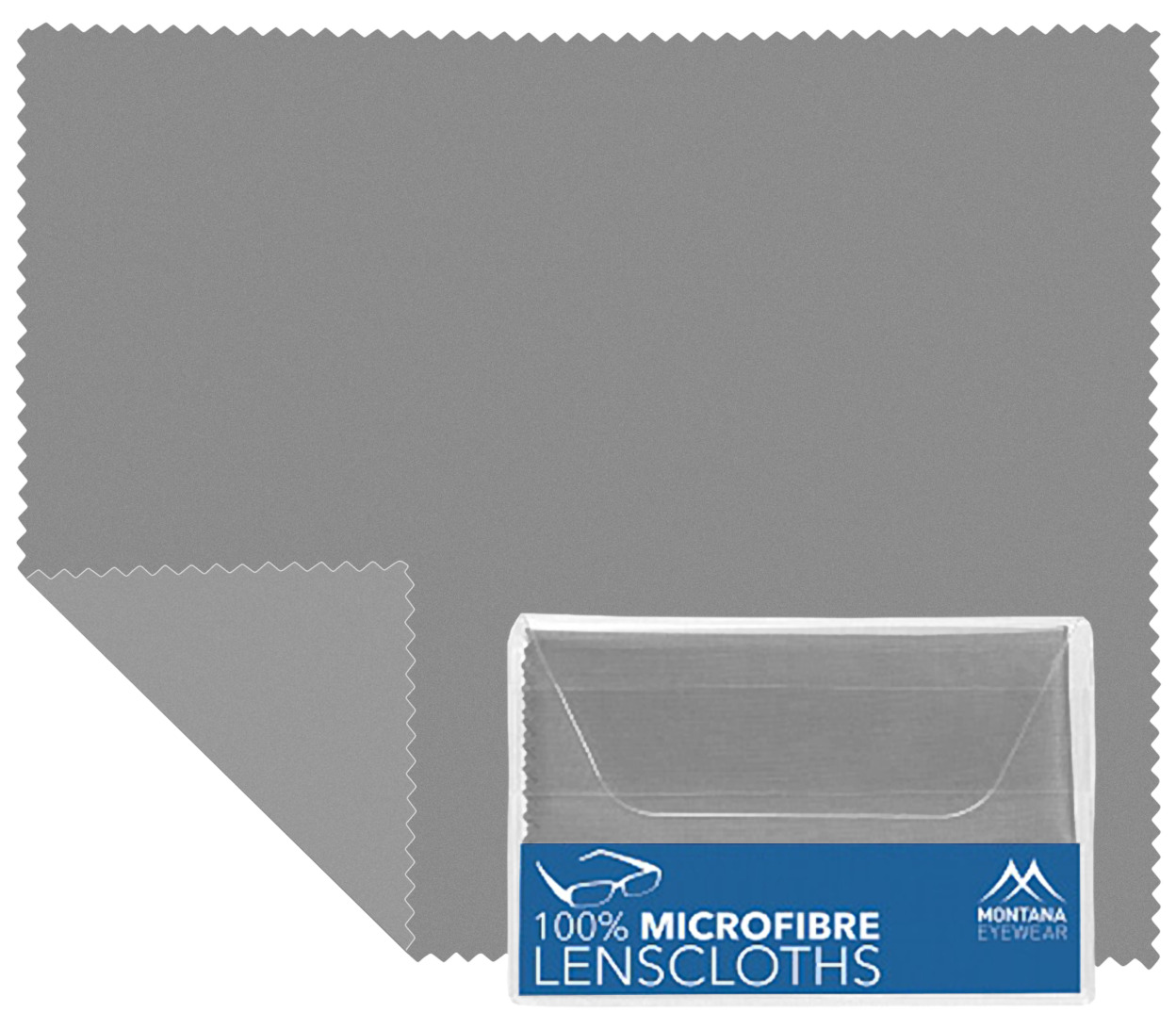 Main Image (Angle) - Microfibre Cloth (Grey) Glasses Cloths Accessories