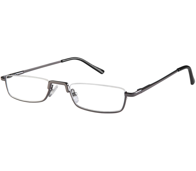 Main Image (Angle) - Mayfair (Gunmetal) Semi-rimless Reading Glasses