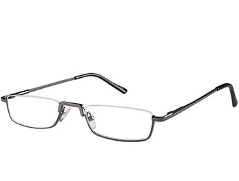 Mayfair (Gunmetal) Semi-rimless Reading Glasses - Thumbnail Product Image