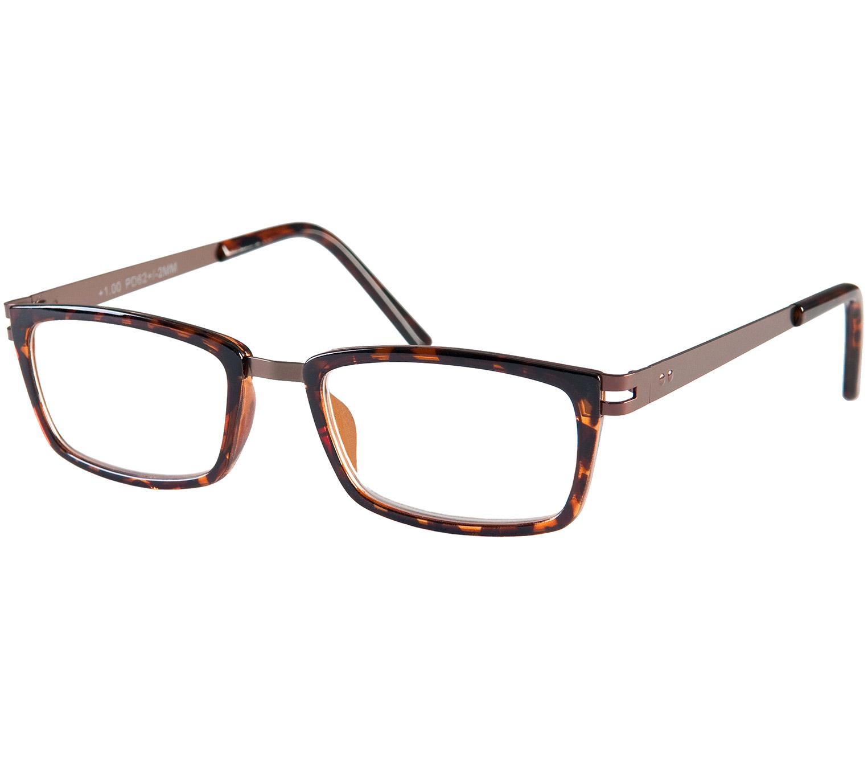 Main Image (Angle) - Midnight (Tortoiseshell) Retro Reading Glasses