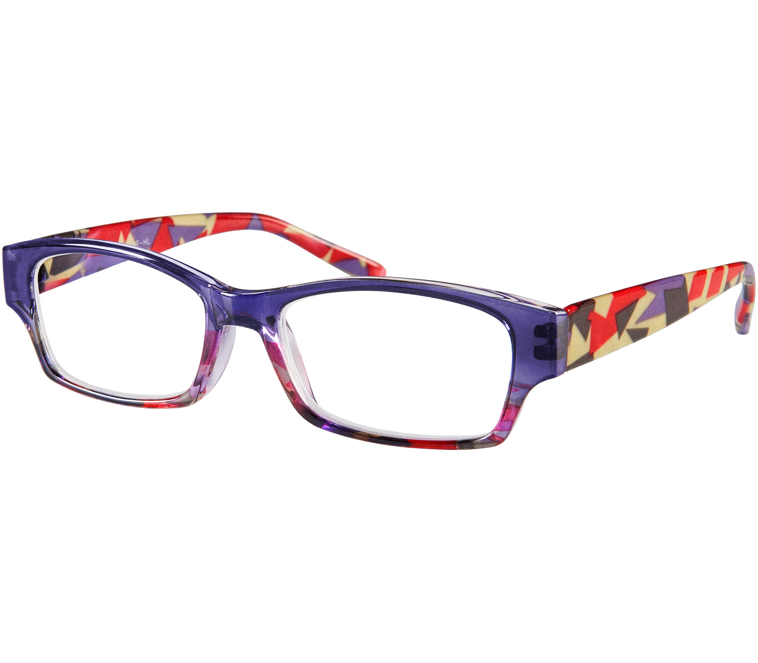 Main Image (Angle) - Mozaic (Purple) Fashion Reading Glasses