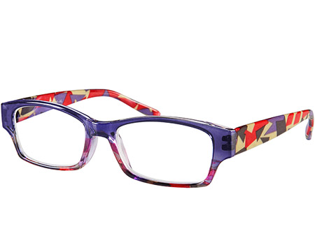 Mozaic (Purple) Fashion Reading Glasses - Thumbnail Product Image