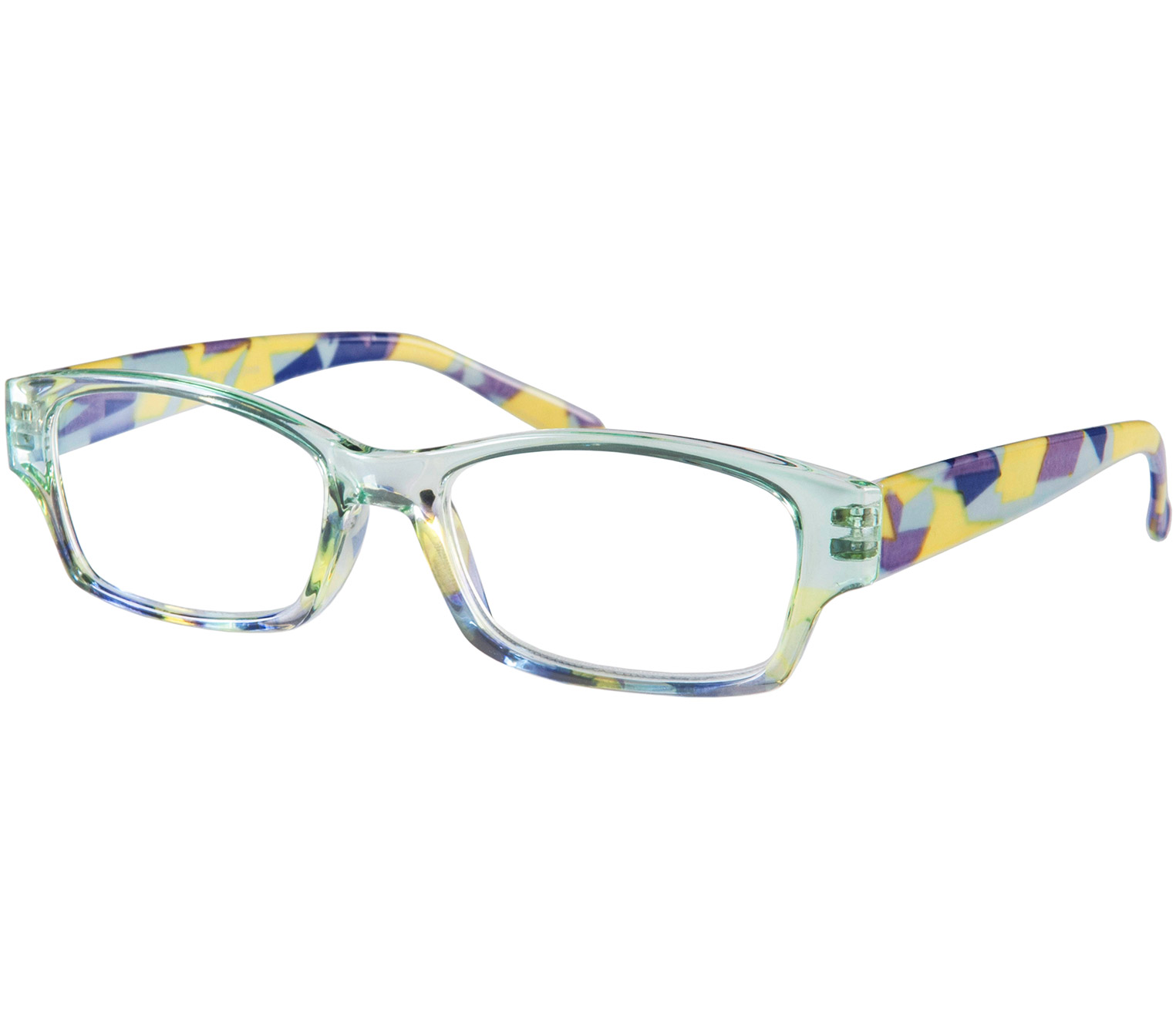 Main Image (Angle) - Mozaic (Blue) Reading Glasses