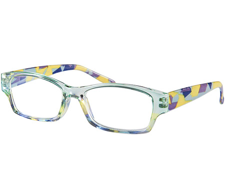 Mozaic (Blue) Fashion Reading Glasses - Thumbnail Product Image