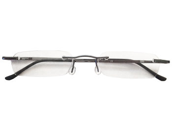 Montreal (Gunmetal) Rimless Reading Glasses