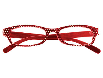 Deco (Red) Fashion Reading Glasses