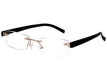 Porto (Black) Rimless Reading Glasses