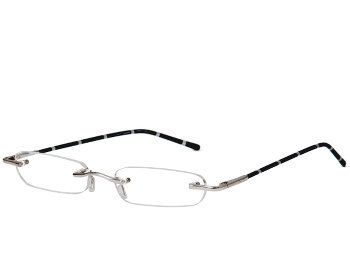 Pinstripe (Black) Tube Reading Glasses