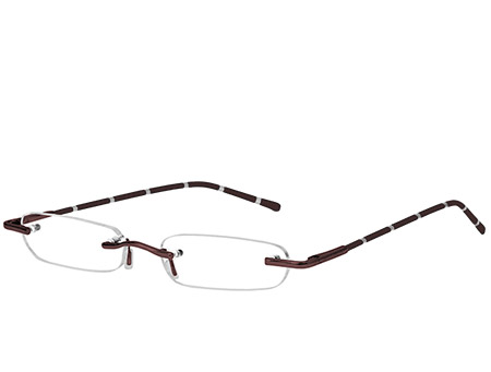 Pinstripe (Brown) Tube Reading Glasses - Thumbnail Product Image