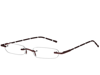 Pinstripe (Brown) Tube Reading Glasses