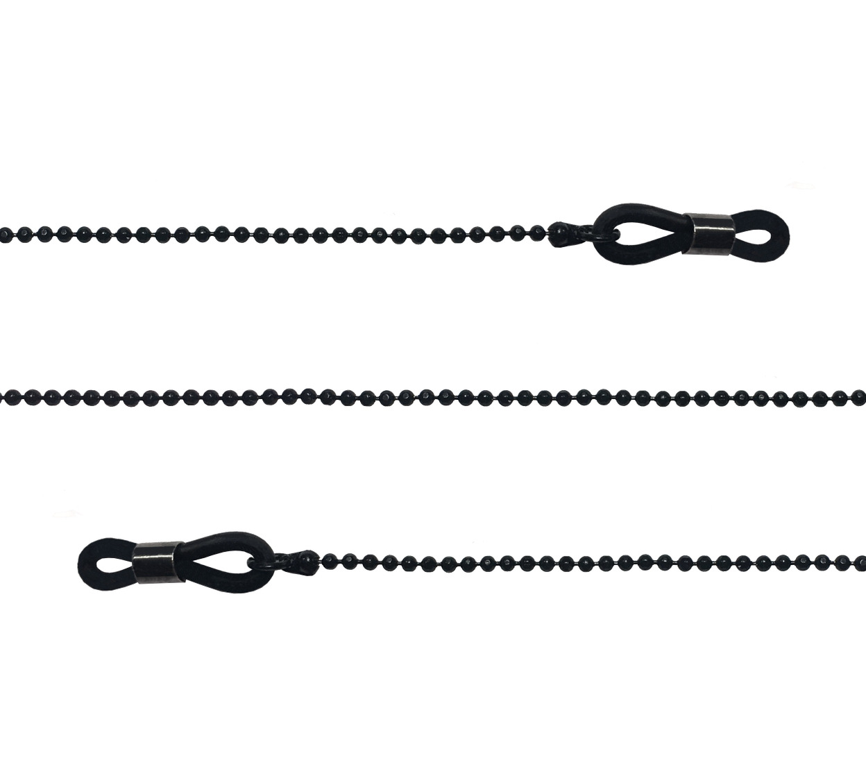 Main Image (Angle) - Link (Black) Glasses Chains Accessories