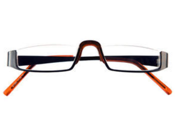 Greenwich (Orange) Semi-rimless Reading Glasses