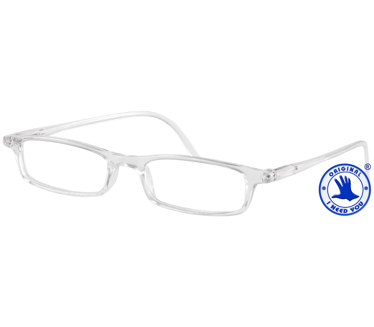 Main Image (Angle) - Adam (Clear) Classic Reading Glasses