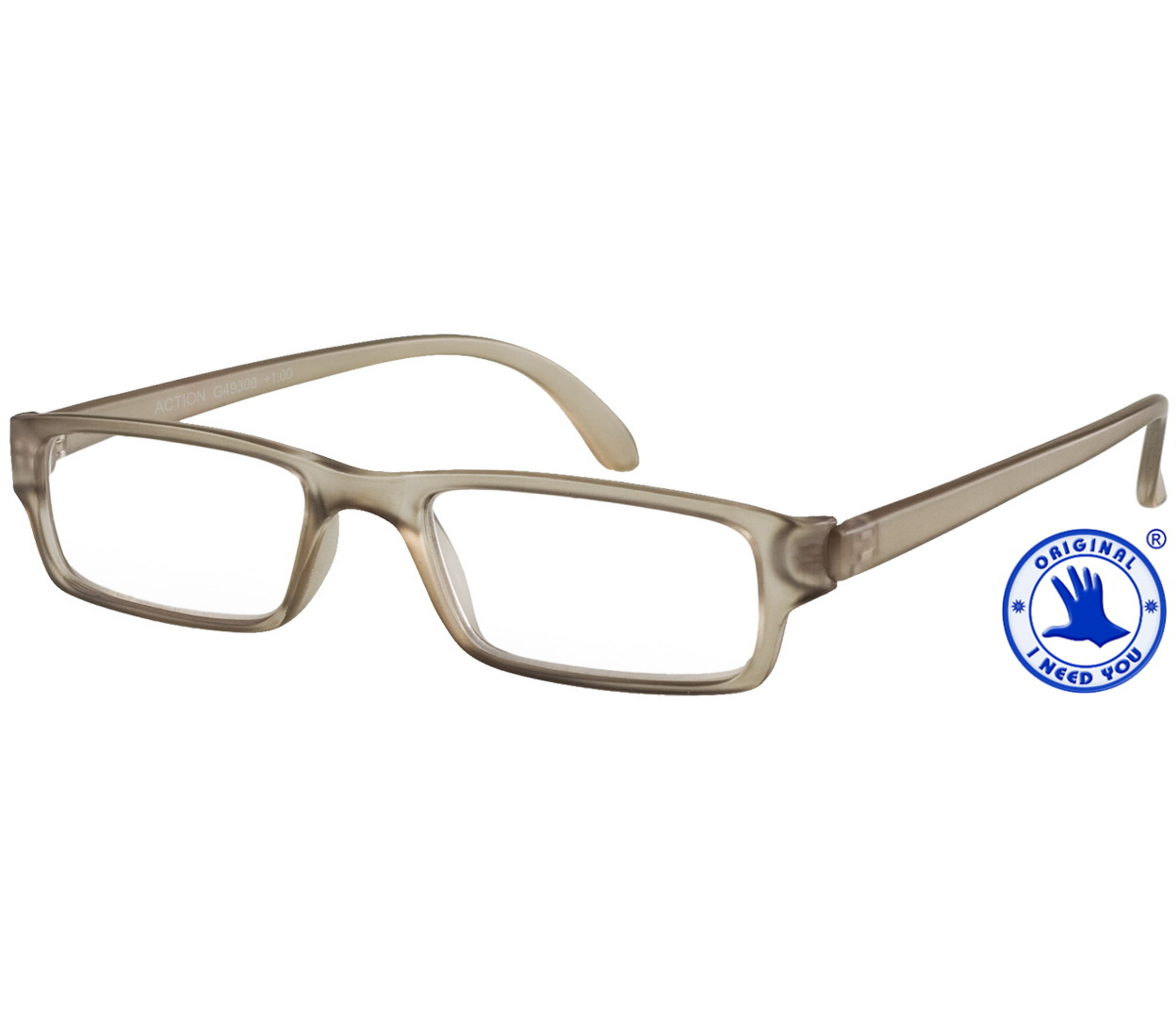 Main Image (Angle) - Action (Grey) Classic Reading Glasses