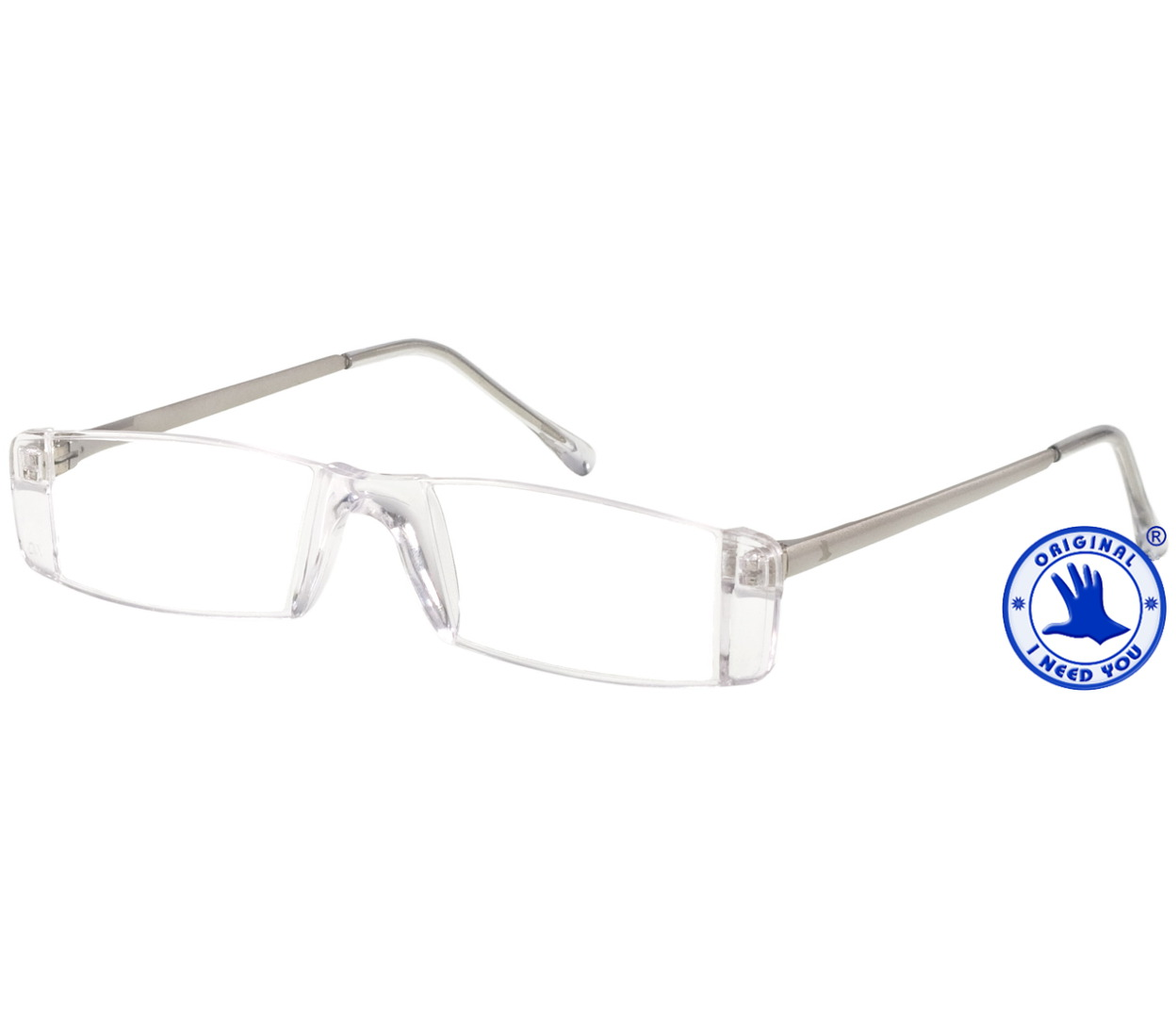 Main Image (Angle) - Champion (Silver) Rimless Reading Glasses