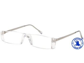Champion (Silver) Rimless Reading Glasses - Thumbnail Product Image