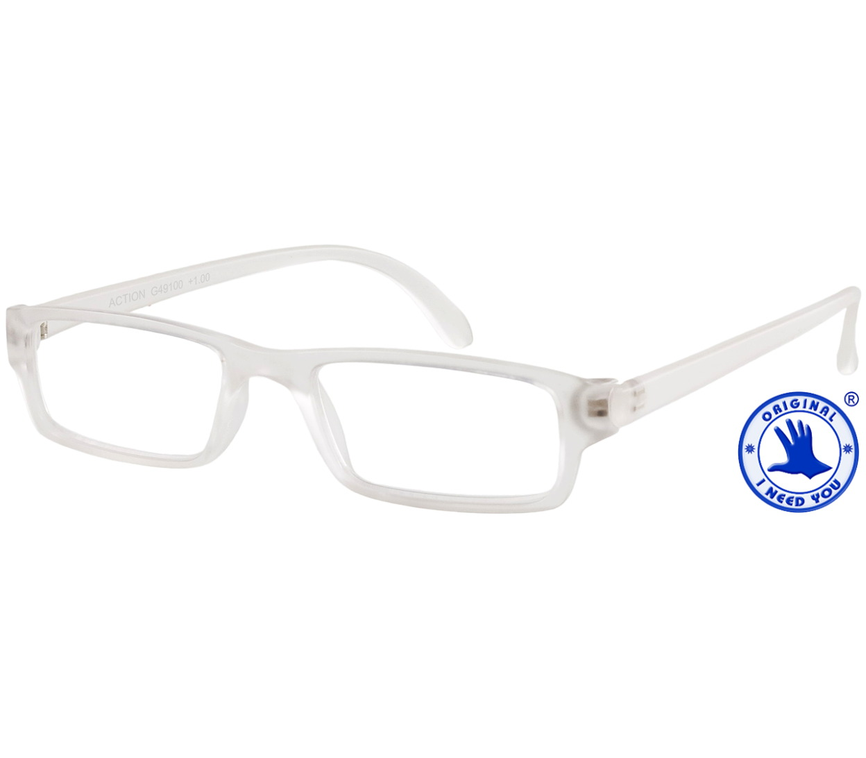 Main Image (Angle) - Action (Clear) Classic Reading Glasses