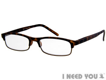 Orkney (Tortoiseshell) Semi-rimless Reading Glasses