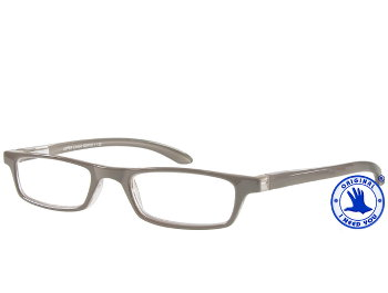 Zipper (Grey) Classic Reading Glasses - Thumbnail Product Image
