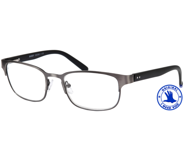 Main Image (Angle) - Buddy (Gunmetal) Retro Reading Glasses