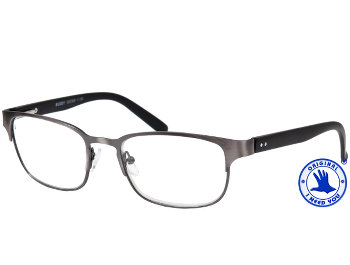Buddy (Gunmetal) Retro Reading Glasses - Thumbnail Product Image