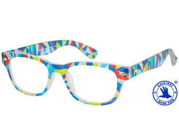 Woody (Multi-coloured) Retro Reading Glasses