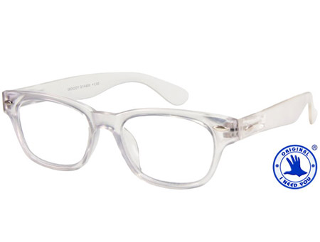 Woody (Clear) Retro Reading Glasses - Thumbnail Product Image