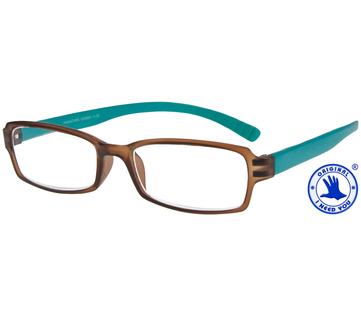 Main Image (Angle) - Hangover (Brown) Neck Hanger Reading Glasses