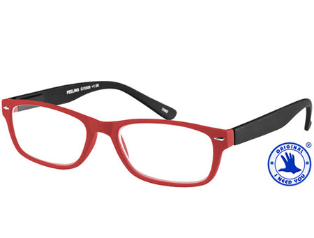 Feeling (Red) Classic Reading Glasses - Thumbnail Product Image