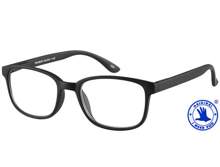 Rainbow (Black) Retro Reading Glasses - Thumbnail Product Image