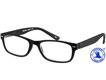 Feeling (Black) Classic Reading Glasses - Thumbnail Product Image