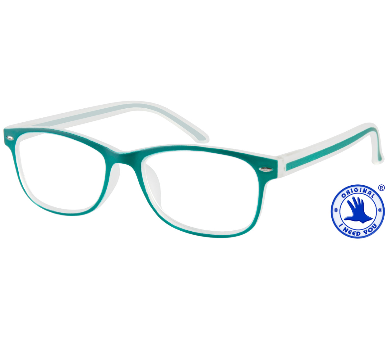Main Image (Angle) - Minty (Green) Classic Reading Glasses