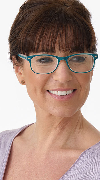 Minty (Green) Classic Reading Glasses - Thumbnail Model Image