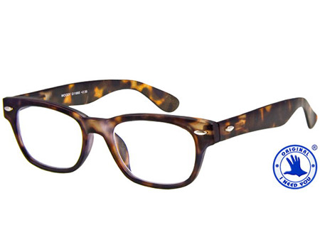 Woody (Tortoiseshell) Retro Reading Glasses - Thumbnail Product Image